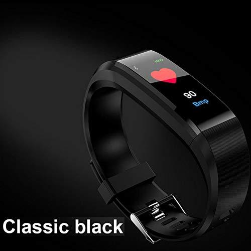 WISREMT Orologio da Polso Intelligente Impermeabile 115 Plus Monitoraggio della Pressione arteriosa Monitoraggio della frequenza cardiaca Smart Wristband Fitness Band