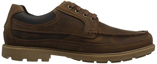 Rockport Mens Storm Rider Moc Ox Oxford Boston Pelle Marrone