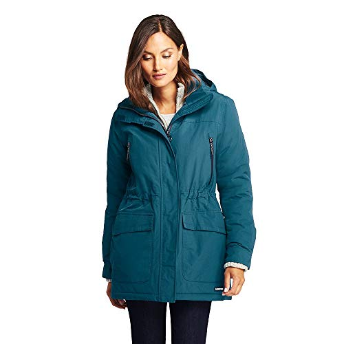 Lands' End Women's Squall Winter Parka, S, Intense Teal