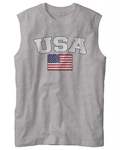 Cybertela Faded Flag Sleeveless T Shirt