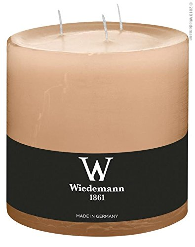 2x Wiedemann Marble durchgefärbte 3-Docht-Kerze 145 148mm (Sand)