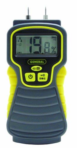 General Tools MMD4E Moisture Meter, Pin Type, Digital LCD