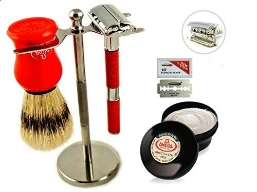 shaving set men shaving kit long handle razor vintage style classic old fashion shaving set. Black Bedroom Furniture Sets. Home Design Ideas