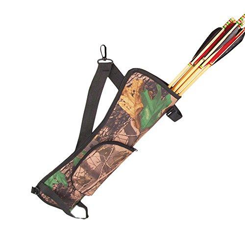 OneTigris 22.8inch Hunting Training Camo Archery Arrow Quiver Holder Bow Belt Shoulder Bag Pouch