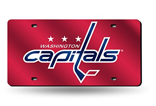 Nhl License Plates Plate - NHL Washington Capitals Laser Inlaid Metal License Plate Tag, Red
