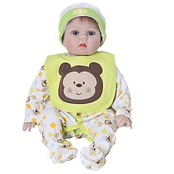 Muñecos Bebé 55 Cm Reborn Baby Full Body Vinyl Silicone Doll ...