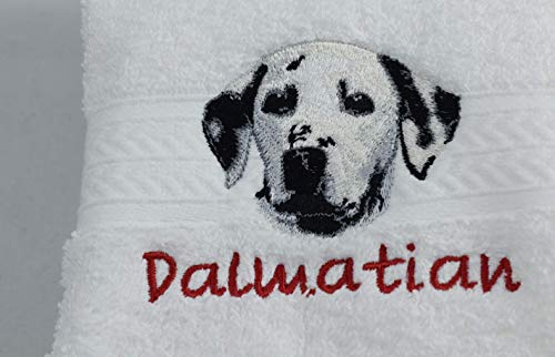 (DALMATIAN Dog Breed Luxury Spa Hand Towel or Golf Towel Embroidered Customized Full-Color with FREE Dog's Name Pet Lover Gift FREE SHIPPING)