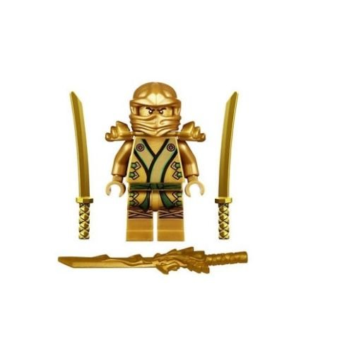 [LEGO NINJAGO MINIFIGURE GOLD NINJA LLOYD DRAGON SHAMSHIR SWORDS GOLDEN NINJA] (Xenomorph Warrior Costume)