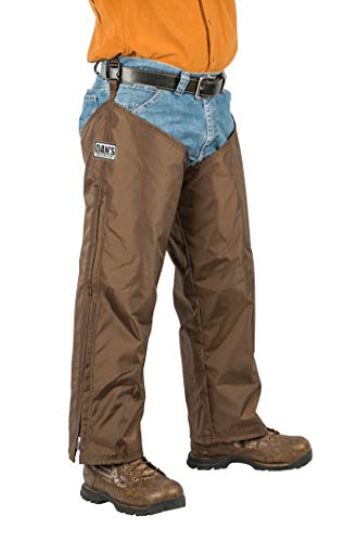 High-N-Dry Briarproof, and Waterproof Protector Chaps, Made in U.S.A. (Brown, L/28) from Dans Hunting Gear
