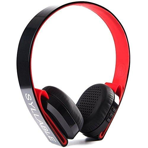 Syllable G600 Funk-Kopfhörer wireless Bluetooth Kopfhörer Stereo Bluetooth Kopfhörer mit Mikrofon Lautstärkenregler Headset für iOS und Android (Schwarz)
