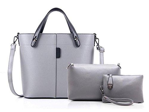 Tres Compras Billetera Conjunto Trabajo Femenina Viaje Brown Solo Bao Piezas Bolsa Colores De Mano Cuatro Moda Grey Hombro PqptwFBx4F