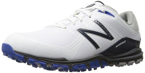New Balance Men's Minimus Golf Shoe, White/Blue, 11.5 D US