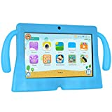 Xgody 7 Inch HD Android Kids Tablet for Kids Quad Core Android 8.1 1GB RAM 8GB ROM Touch Screen with WiFi Pre-Loaded 3D Game Dual Camera Blue