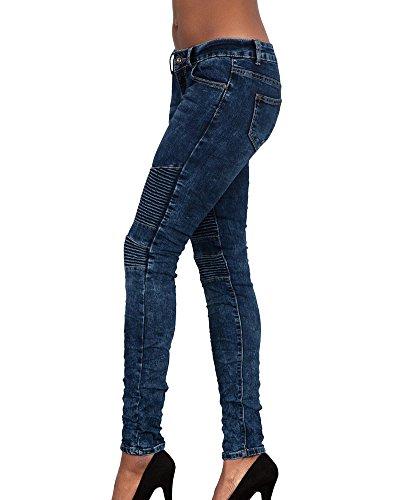 Blu Sottile Donna Skinny Lunghi Marino Jeans Elegante A Matita Stretch Per Pantaloni xIvqwO
