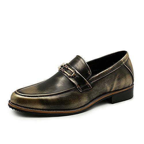antiruggine da Gold Casual Cricket Oxford Nuovi in Scarpe Comode da antiruggine Affari Uomo Metallo Scarpe 46qnBv