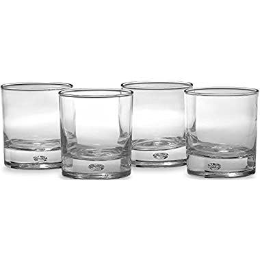 ▶ Circleware CG Oslo High Class Air Bubble Whiskey Glass Drinking Glasses Set, 10 Ounce, Set of 4 Double Old Fashioned Clear Heavy Base Scotch Glass Cups with Air Bubble Design in Glass