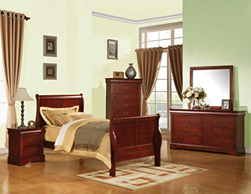 ACME 19530T Louis Philippe III Twin Bed, Cherry Finish