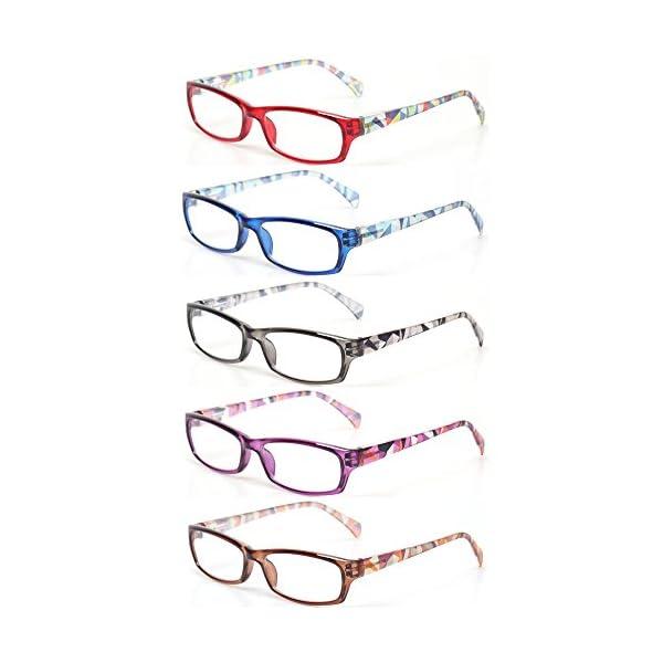 5 pairs of fashion ladies reading glasses