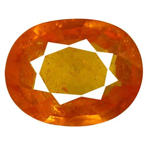 1.39 ct AAA Oval Shape (8 x 6 mm) Unheated/Untreated Fanta Orange Tanzanian Spessartine Garnet Genuine Loose Gemstone