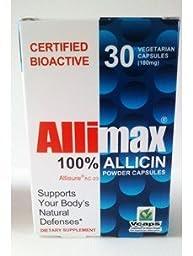 Allimax 100% Allicin 180 mg 30 Vcaps