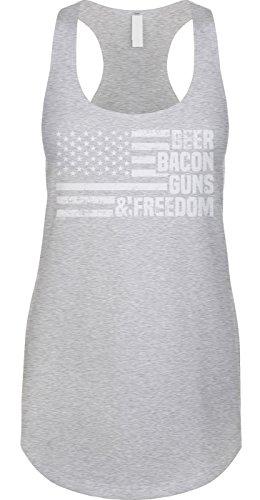Blittzen Womens Tank Beer Bacon Guns & Freedom, M, Light - Guns Freedom