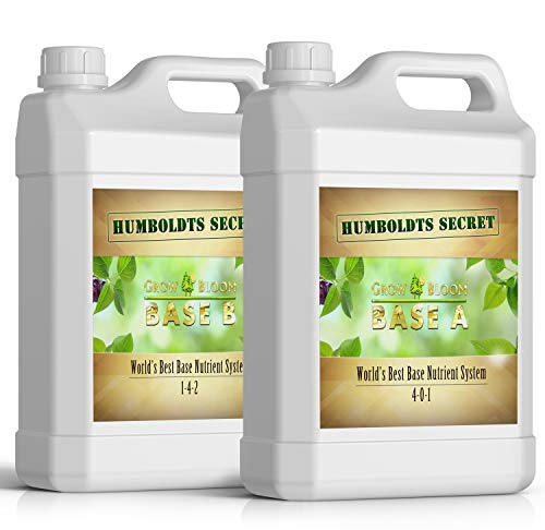 World's Best Base Nutrient System: Humboldts Secret Base A & B Bundle - Liquid Nutrient/Fertilizer for The Vegetative & Flowering Stages of Plants (2 Quarts) (House And Garden Soil A And B Reviews)