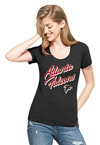 '47 NFL Atlanta Falcons Women's Club Scoop Tee, Medium, Jet Black