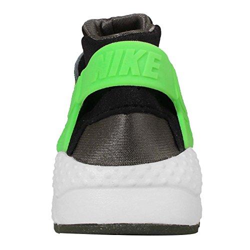 Nike Huarache Run Print (Gs), Zapatillas de Running para Niños Negro / Verde (Black / Grn Strk-Crg Khk-Mdm Olv)
