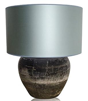 Casa-Padrino lámpara de Mesa de Terracota de Lujo Gris/Azul ...