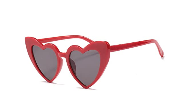 394e5f5f5b Image Unavailable. Image not available for. Colour  TBOP SUNGLASSES Fashion  Heart imported Cat Eye Sunglasses 151MM in red frame ...