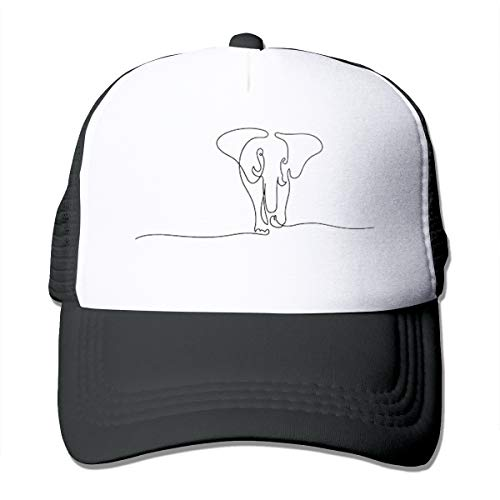 Tesdfk Continuous Line Drawing Elephant Walking Mens Adjustable Vintage Hats Baseball Cotton Fashion Outdoor Cap