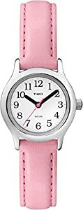 Timex Girls T79081 My First Easy Reader Watch with Pink Faux Leather Strap