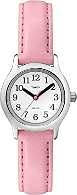 Timex Girls T79081 My First Easy Reader Watch with Pink Faux Leather Strap from Timex