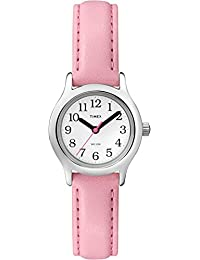 Girls T79081 My First Easy Reader Watch with Pink Faux Leather Strap