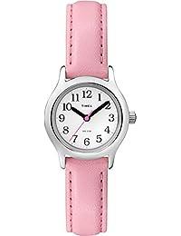 Timex Girls T79081My First Easy Reader Reloj con rosa correa de piel sintética