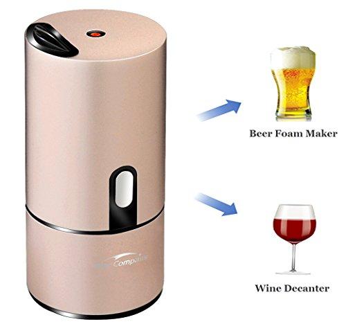 Starcompass Beer Foam Maker | Beer Dispenser Portable Bartender Friend of Wine Decanter and Beer Server