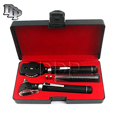 Ddp Diagnostix Fiber Optic Otoscope Set, With Hard Case/ Complete Diagnostic Set-white Bright Led Light + 2 Free Replacement Bulbs