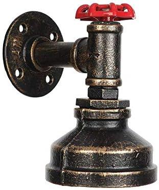 Steampunk Wandkandelaar - Vintage Metalen Zolder Pijp Wandlamp Lamp Retro Industriële Cafe Bar Wandkandelaars E27 Lampvoet (Lamp niet inbegrepen) (Brons)