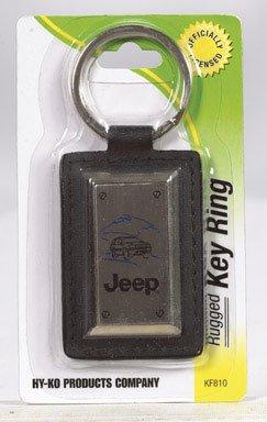 HY-KO PROD CO #KF810 LTHR Jeep Key (Lthr Chain)