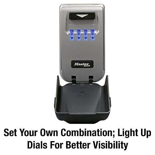 Master Lock 5425D Set Your Own Combination Wall Mount Lock Box with Light Up Dials 6 Key Capacity by Master Lock (Image #2)