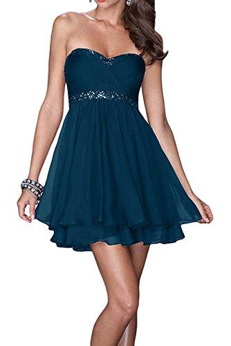 Mini Tinte Brautjungfernkleider Kleider La Blau Kurzes Abendkleider Cocktailkleider Braut Jugendweihe Marie Damen twqwxAFT1
