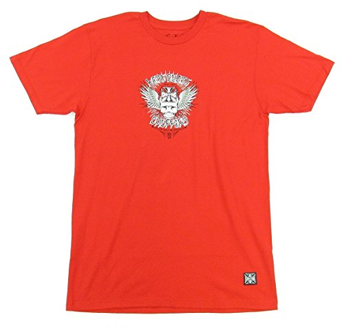 West Coast Choppers Bikers Red Skull Wing T-Shirt Large ()