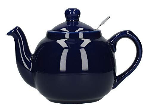 Dexam London Pottery 2 Cup Filter Teapot Cobalt Blue