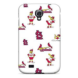 Anti-scratch And Shatterproof St. Louis Cardinals Phone Case For Galaxy S4/ High Quality Tpu Case