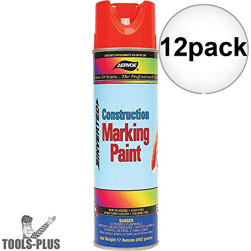 Marking Paint Aervoe (Fluorescent Orange Construction Marking Paint [Set of 12])