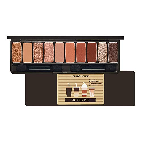 ETUDE HOUSE Play Color Eyes Caffeine Holic | Vivid 10 Color Eye Shadow Palette with Soft Texture and Daily Deep Coffee Colors | Eyes Makeup | Kbeauty