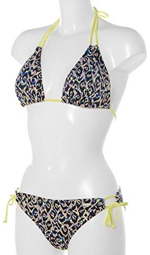 Sunshine eeker Bikini Triángulo Congo Azul - Leo gemustert