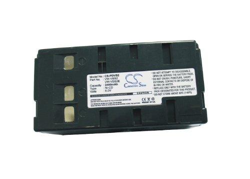 Battery2go Battery fit to Panasonic NV-G101A, PV-IQ504, PV-L657, NV-MS70, NV-G200, NV-G202A, PV-IQ404