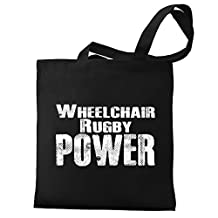 Eddany Wheelchair Rugby power Canvas Tote Bag