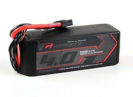 HobbyKing - Turnigy Graphene 4000mAh 6S 45C Lipo Pack w/XT90 ...